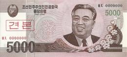 COREE DU NORD 5000 WON 2008 UNC P 66 S - Corée Du Nord