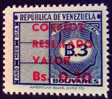 Venezuela 1965 Timbre Fiscal Surchargé Overprinted RESELLADO Yvert 722 ** MNH - Madagaskar (1960-...)