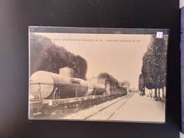 CPA.(79) FRONTENAY ROHAN. Gare Des Chemins De Fer.     (G Bis 789). - Frontenay-Rohan-Rohan