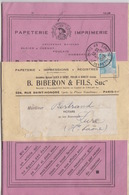 Exemple De Livret De La Papeterie Biberon Obl. Paris 49 R. Des Petits Champs Sur 8f Gandon Bleu Le 6/12/48 Pour Lure - Marcophilie (Lettres)