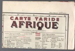 Afrique : Carte Taride EN COULEURS   (sd)  (PPP11085) - Geographical Maps