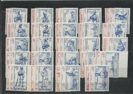 1941, Défense De L' Empire, Complète 72 Timbres Neufs ** MNH, Cote YT 162€45 - 1941 Défense De L'Empire