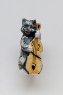 Fève Chat Musicien Contrebasse - Animales