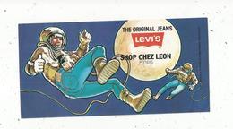 Autocollant , The Original Jeans LEVI'S ,  SHOP CHEZ LEON ,  Poitiers, 185 X 95 Mm ,  Frais Fr 1.55 E - Autocollants