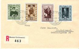 Liechtenstein 1953: Gemäldeserie IV Zu 255-258 Mi 311-314 Yv 273-276 Auf R-FDC O VADUZ 5.II.53 (Zumstein CHF 200.00) - FDC