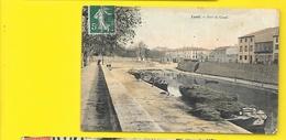 LUNEL Rare Colorisée Port Du Canal (Granier Et Piton) Hérault (34) - Lunel