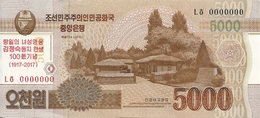 COREE DU NORD 5000 WON 2013(2017) UNC P CS18 - Corea Del Nord