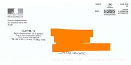 Affranchigo 9 Gr écopli Sur Env Logo République DDTM Aude - Postmark Collection (Covers)