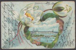 """""""Hamburg"""", Dek. Farbige Karte, 1900 Nach Chile Gelaufen, Kl. Mängel - Mitte"""