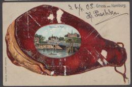 """""""Hamburg"""", St.Pauli, Farbige Präge-Karte Im Schinken, 1905 Gelaufe, Etwas Abgerieben - Mitte"""