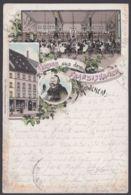 """""""München"""", Franziskaner, Farblitho, 1897 Gelaufen, Leider Bug - München"""