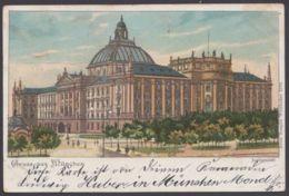 """""""München"""", Justizpalast, Farbig, 1899 Gelaufen - München"""
