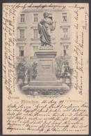 """""""München"""", Goethe-Denkmal, 1899 Gelaufen - München"""