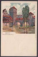 """""""Nürnberg"""", Henkersteg, Farbige Künstlerkarte, Sign. Mutter, Ca. 1900 - Nürnberg"""