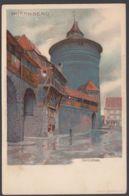 """""""Nürnberg"""", Spittlerthor, Farbige Künstlerkarte, Sign. Mutter, Ca. 1900 - Nürnberg"""