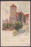 """""""Nürnberg"""", Farbige Künstlerkarte, Sign. Mutter, 1902 Gelaufen - Nürnberg"""