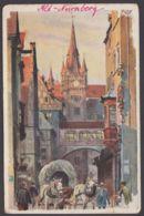 """Nürnberg"", Farbige Künstlerkarte, Sign.  Kley, 1906 Gelaufen - Nürnberg"