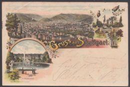 """Stuttgart"", Farb-Litho, 1900 Gelaufen, Leider Eckbug - Stuttgart"
