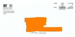 Affranchigo 9 Gr écopli Sur Env Logo République DDTM Aude - Marcofilie (Brieven)