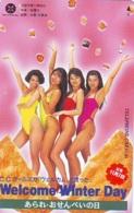 Télécarte Japon * EROTIQUE *   (6443)   EROTIC PHONECARD JAPAN * TK * BATHCLOTHES * FEMME SEXY LADY LINGERIE - Mode