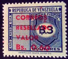 Venezuela 1965 Timbre Fiscal Surchargé Overprinted RESELLADO Yvert 725 ** MNH - Madagaskar (1960-...)
