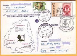 2001 2011  Moldova Moldavie Moldau.FDC  Orgeev  Zemstvo,  Russia 140 Years Of Education The Zemstvo Post. - Moldawien (Moldau)