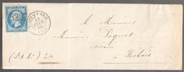 Lettre France N° 22 Napoléon GC 3237 Rozoy-en-Brie Seine-et-Marne - Marcophilie (Lettres)
