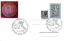 ITALIA - 1975 TRIESTE 2^ Mostra Filatelica Adriaclub (profilo Italia) - 911 - Geografia