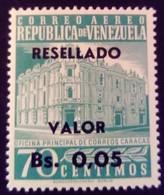 Venezuela 1965 Hôtel Des Postes Surchargé Overprinted RESELLADO Yvert PA815 ** MNH - Madagaskar (1960-...)
