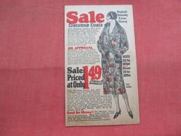 Sale Cretonne Coats Chicago Il        Ref 3450 - Advertising
