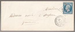 Lettre France N° 22 Napoléon GC 3844 St-Sauveur-en-Puisaye Yonne - Marcophilie (Lettres)