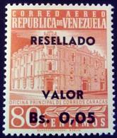 Venezuela 1965 Hôtel Des Postes Surchargé Overprinted RESELLADO Yvert PA816 ** MNH - Madagaskar (1960-...)
