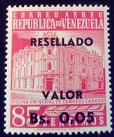 Venezuela 1965 Hôtel Des Postes Surchargé Overprinted RESELLADO Yvert PA817 ** MNH - Madagaskar (1960-...)