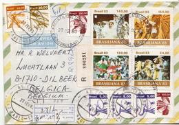 Postal History: Brazil Set On R Cover - Carnival