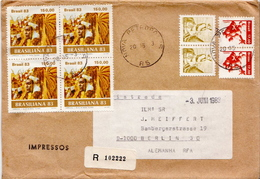 Postal History: Brazil Stamps On R Cover - Carnival