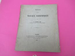 Notice/Géologie/Travaux Scientifiques De Charles LORY/ Ecole Normale Supérieure/La Grande Chartreuse/ 1881        MDP109 - Libri, Riviste, Fumetti
