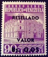 Venezuela 1965 Hôtel Des Postes Surchargé Overprinted RESELLADO Yvert PA818 ** MNH - Madagaskar (1960-...)