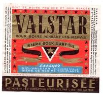Etiquette  Bière Valstar Rouge - Birra