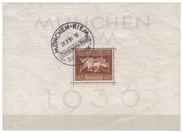 3.Reich: 1936: Block 4X, Gestempelt - Deutschland