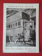 SPAIN ANTIGUO DÍPTICO AGENCIA OLLE IGUALADA (BARCELONA) 1978 LA DILIGENCIA IGUALDINA CON IMAGEN DE 1960 TRANSPORTES ? - Sin Clasificación
