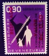 Venezuela 1965 Agriculture Surchargé Overprinted RESELLADO Yvert PA824 ** MNH - Madagaskar (1960-...)
