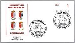 10 Años REGIMIENTO DE INTELIGENCIA Nº 1. Valencia 2015 - Militares