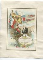 Grande CHROMO Au Bon Marché J. Minot 1901 France Russie Tsar Nicolas II Président Loubet Reims Compiègne Dunkerque - Au Bon Marché