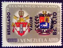 Venezuela 1965 Armoiries Arms Surchargé Overprinted RESELLADO Yvert PA830 ** MNH - Madagaskar (1960-...)