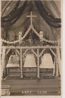 57 - ARRY - CARTE PHOTO - BAPTEME DES CLOCHES LE 1.02.1925 - Autres Communes