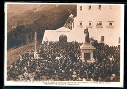 PIEDIMONTE D'ALIFE - BENEVENTO - 1935 - PADRE L. BELLO BENEDICE ED INAUGURA L'ACQUEDOTTO SUL MUTO - Benevento