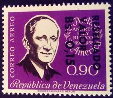 Venezuela 1965 Personnalité Personnality Surchargé Overprinted RESELLADO Yvert PA832 ** MNH - Madagaskar (1960-...)