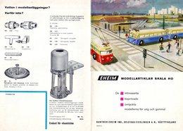 Catalogue EHEIM 1960 Modellartiklar Skala HO Brochure Schwedische Ausgabe - En Suédois - Livres Et Magazines
