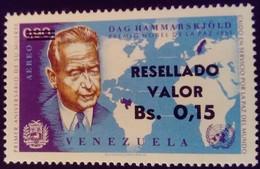 Venezuela 1965 Personnalité Personnality Surchargé Overprinted RESELLADO Yvert PA834 ** MNH - Madagaskar (1960-...)