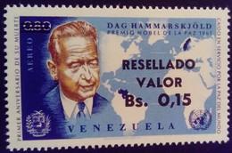 Venezuela 1965 Personnalité Personnality Surchargé Overprinted RESELLADO Yvert PA833 ** MNH - Madagaskar (1960-...)